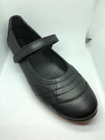 Geox J Euphory C - Black Leather