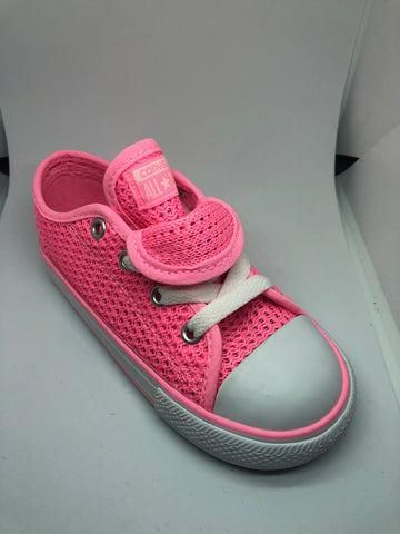 Converse Ctas Double Tongue Ox Mesh - Pink Glow