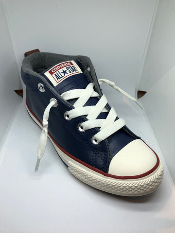 Converse Ctas Street Leather Mid - Midnight Navy
