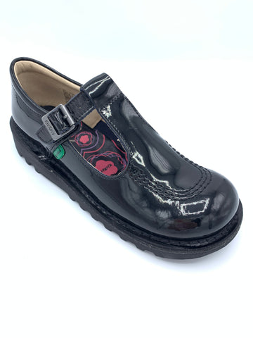 Kickers Kick T Black Patent