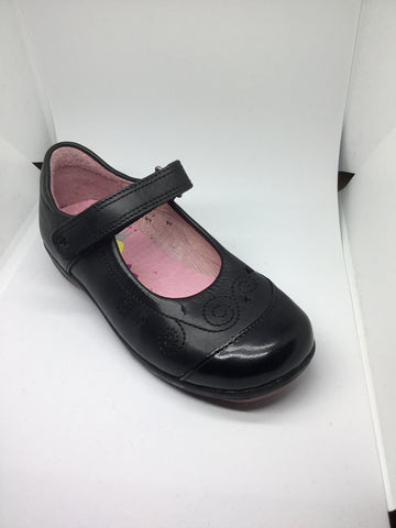 Startrite Twinkletoes Spar - Black Leather