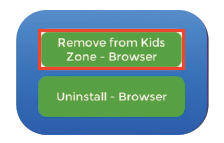 Remove App from Kids Zone