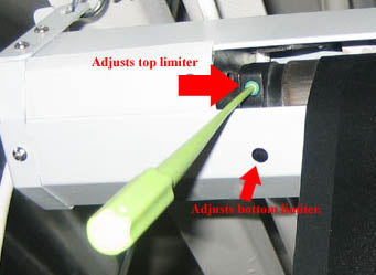 Electric Screen Limiter Adjustment Location (1st Edition)