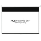 FAVI 72 inch 16:9 Manual Pull-Down Projector Screen