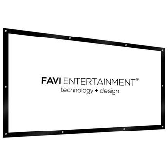 FAVI 100 inch 16:9 DIY PVC White-Flex Projector Screen, Folded