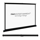 FAVI 50 inch 16:9 Portable Projector Screen with Travel Bag