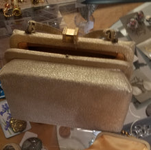 Load image into Gallery viewer, Joseph Magnin Goldtone Evening Purse