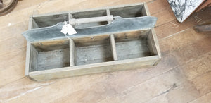 Wood Tote with Metal Handle