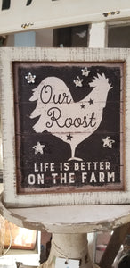 "Wood Sign ""Our Roost"""