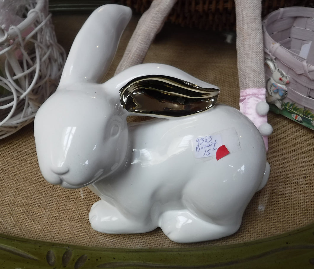 White Ceramic Bunny
