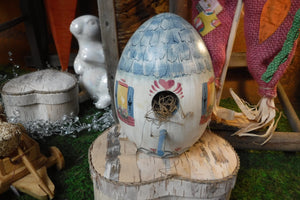 Egg-Shaped Birdhouse
