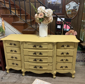Vintage French Provincial 9 Drawer