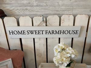 Home Sweet Farm Wood Sign