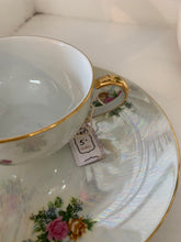 Load image into Gallery viewer, Rose Opalescent Tea Cup & Saucer