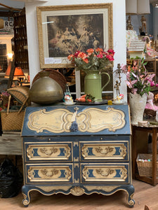 French Vintage Painted Desk