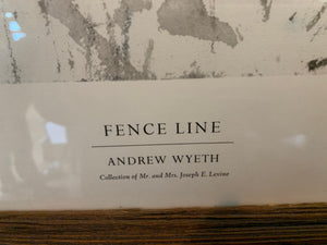 Limited Edition Fence Line Andrew Wyeth