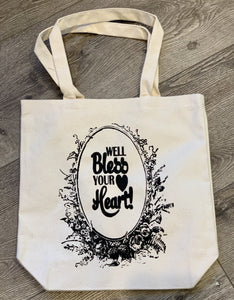 Canvas Tote - Well, Bless Your Heart