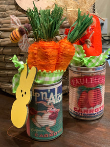 Carrots in a can