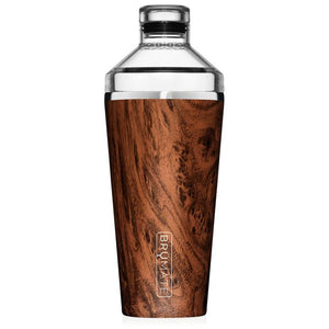 Insulated Cocktail Shaker- Walnut
