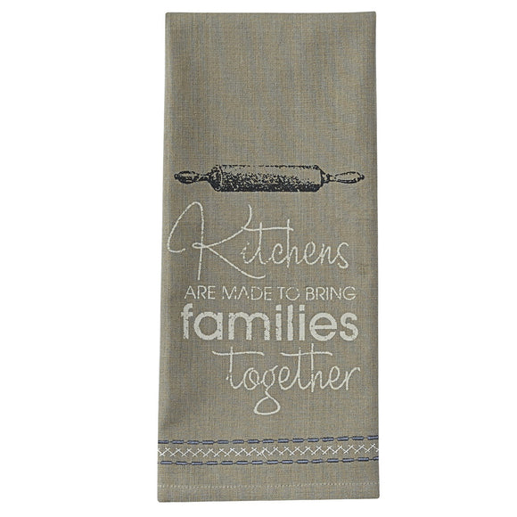 Kitchens are made Printed Dishtowel