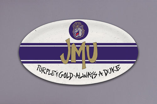 JMU Small Oval Plate