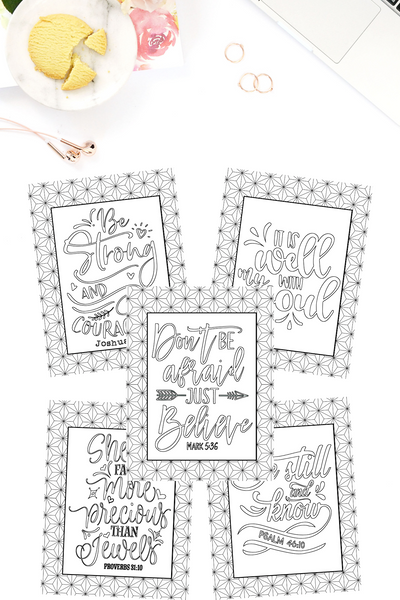 Looking for a way to de-stress? Feel motivated? Inspired? These Uplifting Scripture Coloring Sheets are perfect to up-build you!