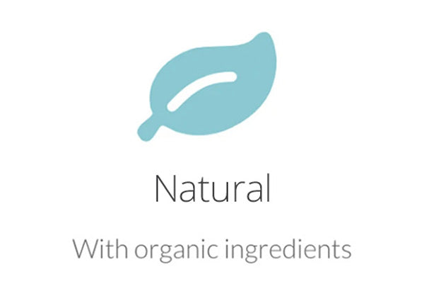 Natural with organic ingredients
