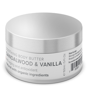 Body Butter with Vanilla & Sandalwood Essential Oils - Natural Tone Organic Skincare