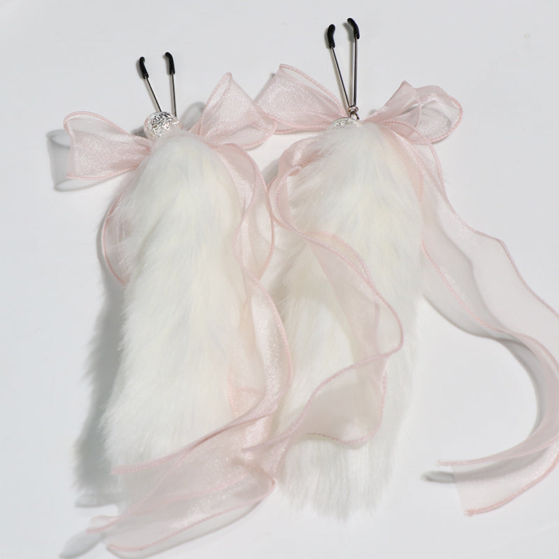 Fur Tail Nipple Clamps