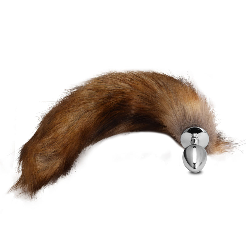 Stainless Steel Fox Tail Butt Plug