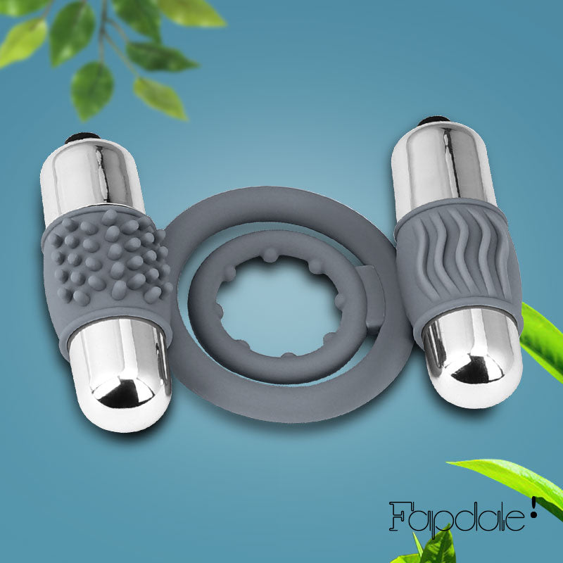 Double Bullet Vibrating Penis Ring