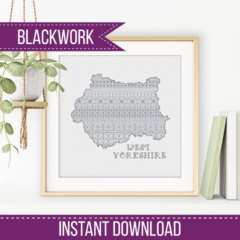 West Yorkshire Blackwork Pattern