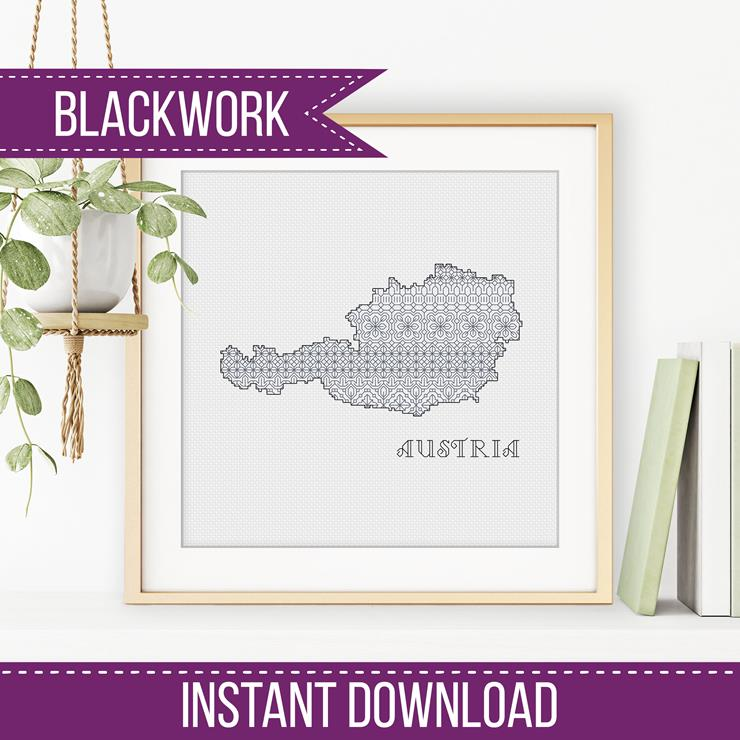 Blackwork Pattern - Austria Blackwork