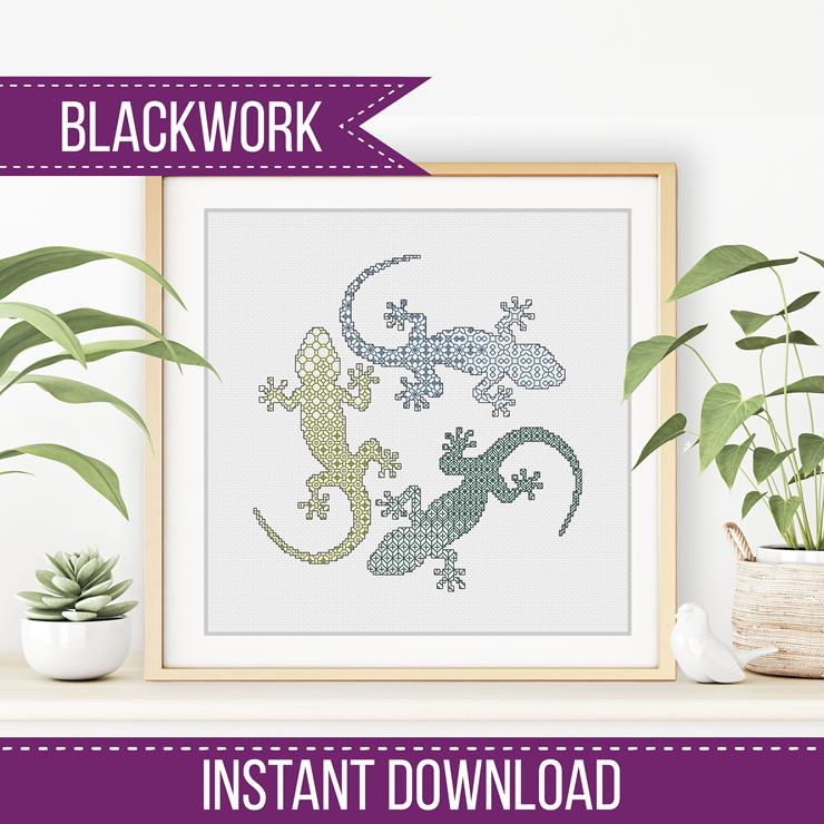Blackwork Geckos