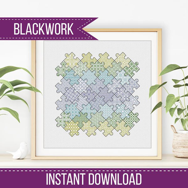 Jigsaw Puzzle Blackwork
