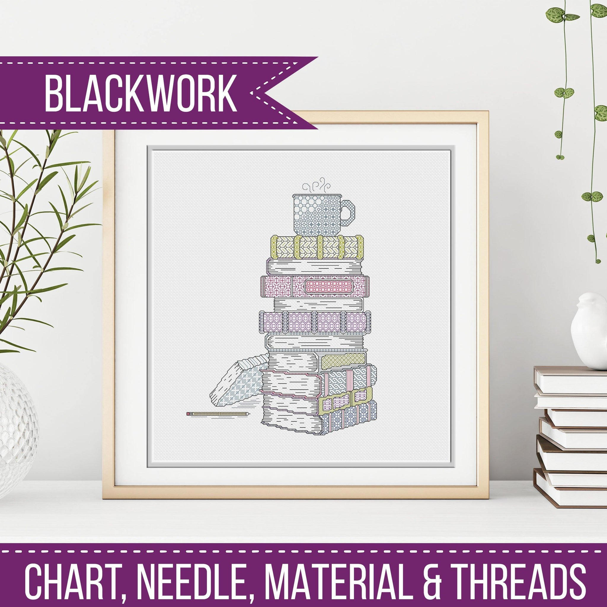 Time To Relax - Blackwork Books Kit