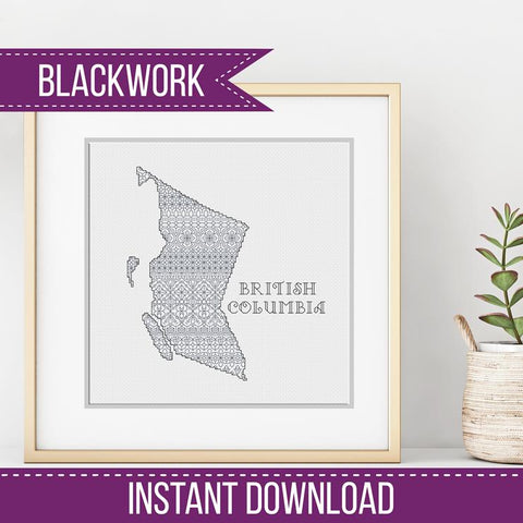 Blackwork Pattern - British Columbia Blackwork