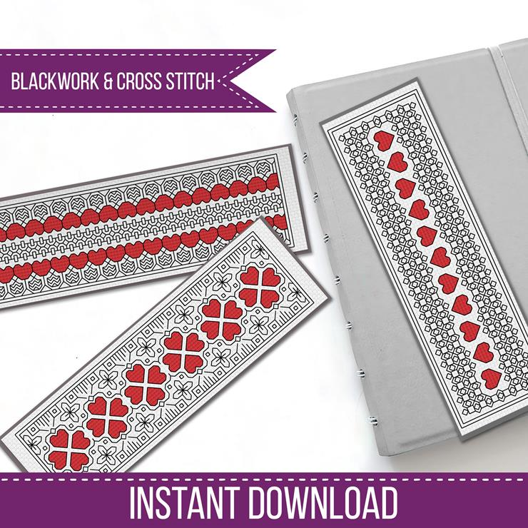 Blackwork Bookmarks