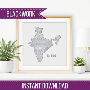 Blackwork Pattern - India Blackwork