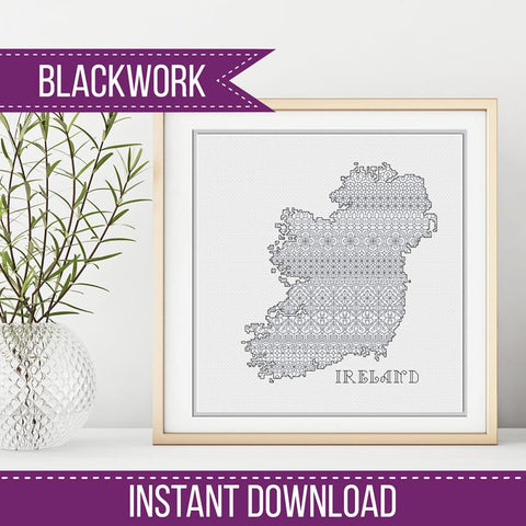 Blackwork Pattern - Ireland Blackwork