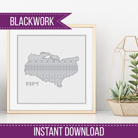 Blackwork Pattern - Kent Blackwork