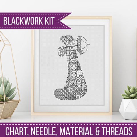 Modern Blackwork Kit