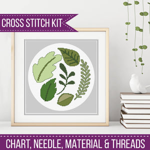 Leaves Cross Stitch Kit