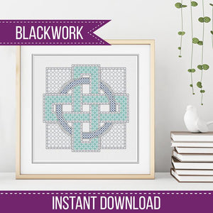Blackwork Pattern - Large Love Knot Blackwork Pattern