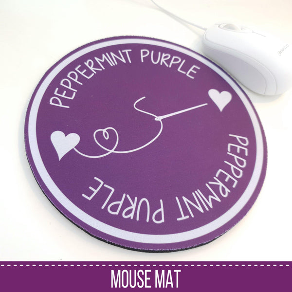Peppermint Purple Mouse Mat