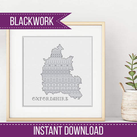 Blackwork Pattern - Oxfordshire Blackwork Pattern