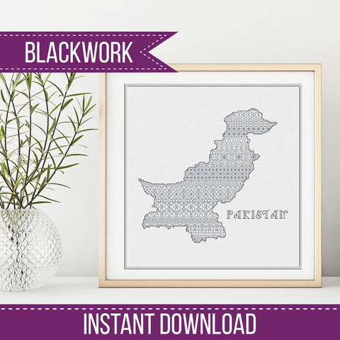 Blackwork Pattern - Pakistan Blackwork