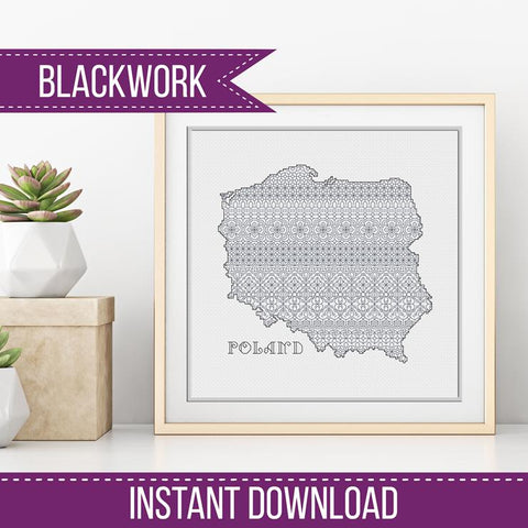 Blackwork Pattern - Poland Blackwork