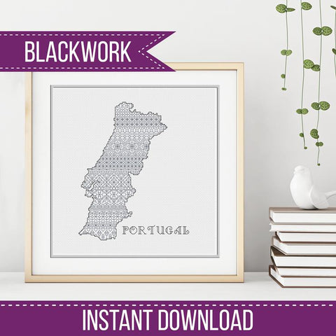 Blackwork Pattern - Portugal Blackwork