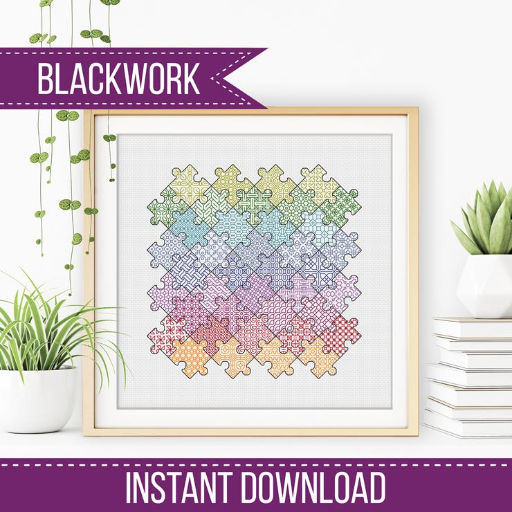 Blackwork Jigsaw Puzzle